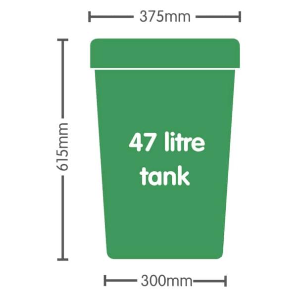 47ltr Solid Tank Green