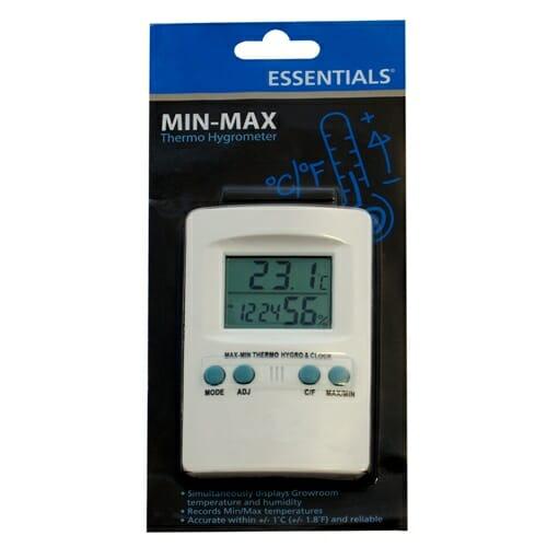 ESSENTIALS Digital Min Max Thermo Hygrometer Small