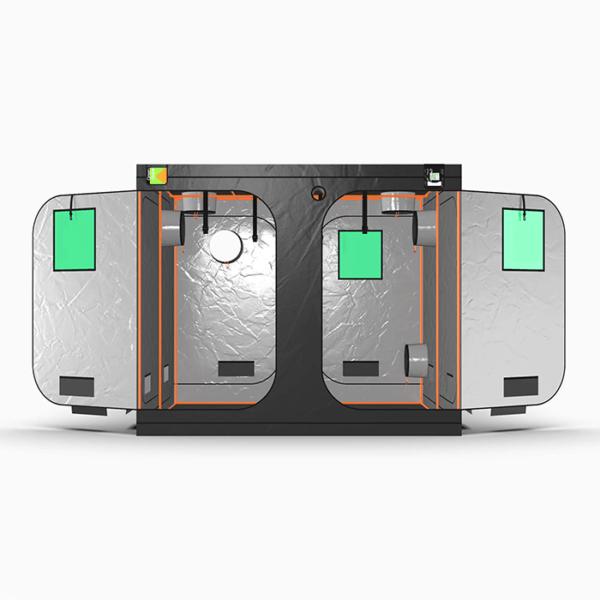 Green Qube V2 Grow Tent GQ240 2.4 x 2.4 x 2m OR 2.2m FRONT